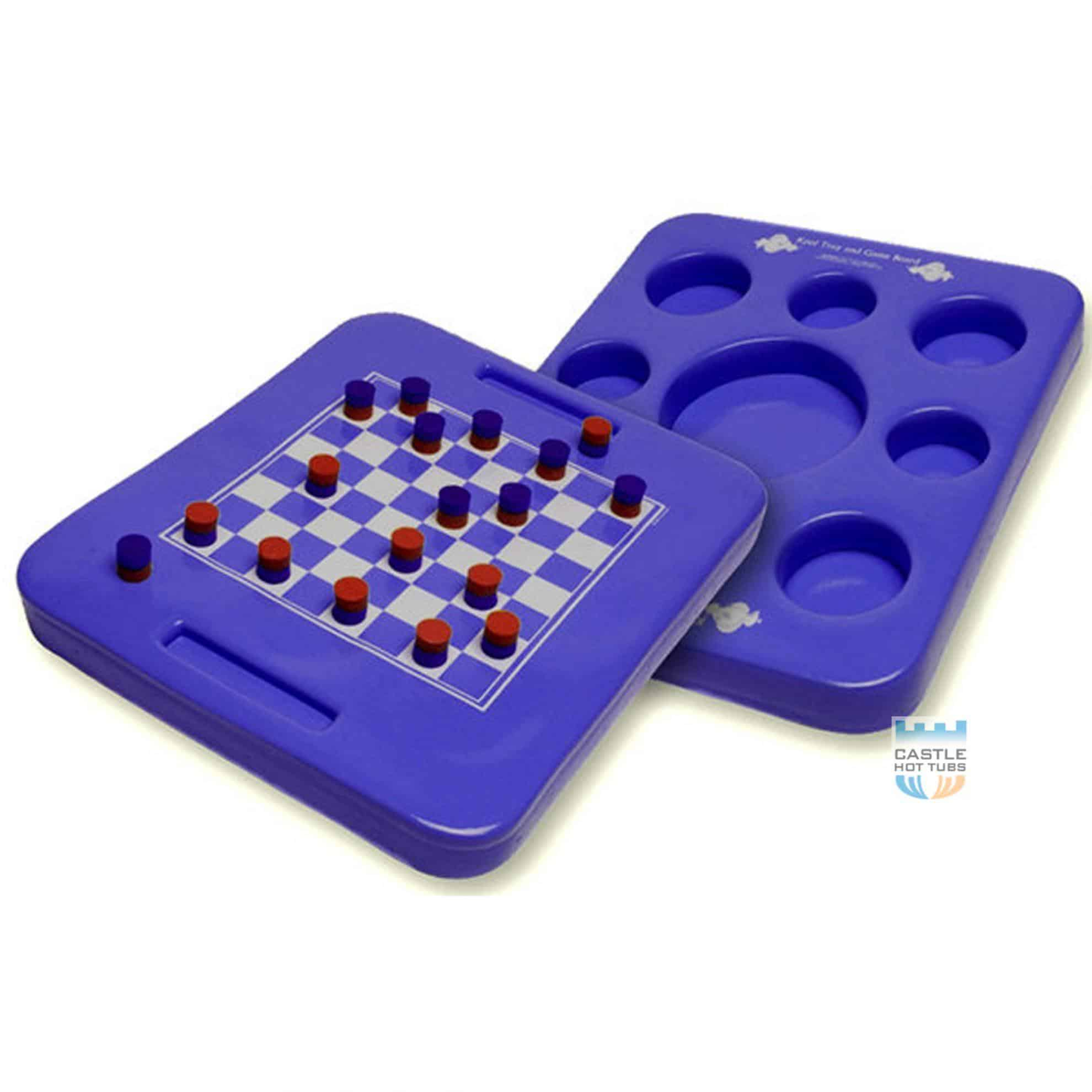 Kool Floating DrinksTray Draughts Board